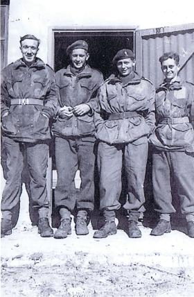 Airborne soldiers at Parachute School, Aqir Airfield, Palestine, Jan 1947