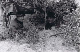 Soldiers from A Coy, 1 PARA in a border Observation Post, Hong Kong, 1980