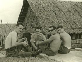 Soldiers of Guards Para Coy take a break a Nee Soon Camp, Singapore, 1962