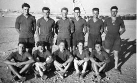 Group photo of the Support Coy, 2 PARA Football Team, Amman, Jordan, July 1958