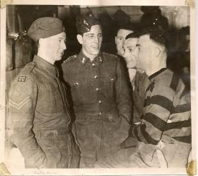 Stan Morgan in Brighton's changing room after Bruneval, 1942