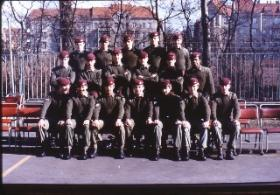 Group photo of Stephen Prior and his platoon.