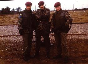 Corporal Stephen Prior (centre) with two comrades on an exercise.