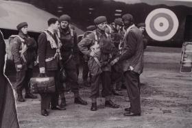 Stick from No 2 Commando prior to emplaning, 1940