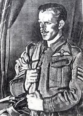 Drawing of S/Sgt Strathdee (Freshman) by EH Kennington