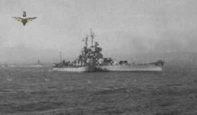 French Battleship at Suez 1956
