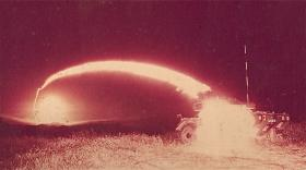 Night Firing Swingfire Missiles at Otterburn Ranges, 1970s.