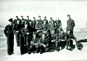 The RAF ground crew involved in the Tragino raid.