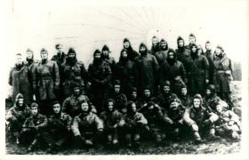 Group shot of X Troop prior   to Operation Colossus raid.