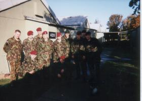 Group photo of a Parachute Course, RAF Brize Norton, 1996
