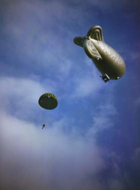 Balloon Jump 1942. Image courtesy of IWM TR0048