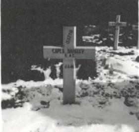 Temporary gravestone of Spencer Daisley, Normandy