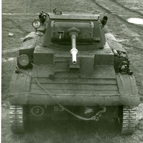 Tetrarch Light Tank fitted with 'Little John' adaptor, c.1944