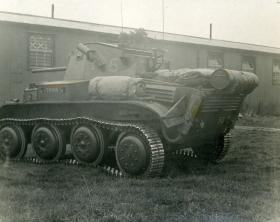 Tetrarch showing auxillary fuel tank and rear stowage, c.1944