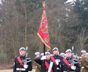 The 4 Regt AAC Escort to The AAC Guidon at Marks Hall Estate, Essex, March 2010