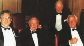 Brigadier Shan Hackett at a reunion dinner