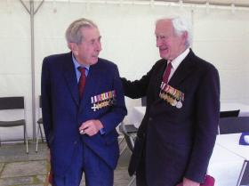 The Hon Piers St Aubyn MC with Maj Tony Hibbert MC at the opening of the Hibbert Centre Trebah
