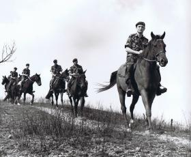 The Pegasus patrol embark on a mountain patrol on the Hong Kong border, 1980