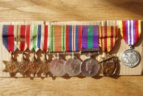 Campaign and commemorative medal set of Sgt Jim Lund