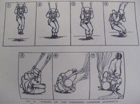 The perfect landing from the Parachute Training Manual, 1944
