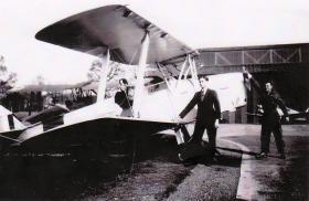 Tiger Moth at No 16 EFTS Burnaston