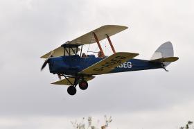 Tiger Moth in flight at Wattisham, October 2009