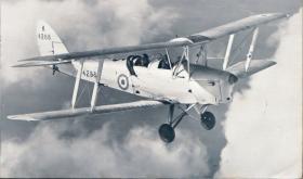Tiger Moth in flight, 1946
