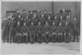 Group photograph of Parachute intake, Scarborough, c.1942-3