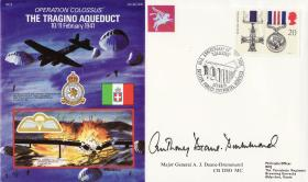 Tragino Commemorative Cover signed by Tony Deane-Drummond
