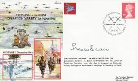 Operation Varsity Commemorative Cover signed by Lt Col Eadie