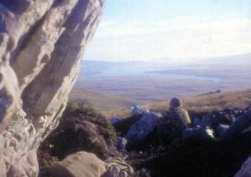 View of San Carlos from 2 PARA position on Sussex Mountain