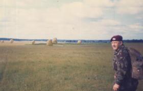 WO2 Eddie Davis providing medical cover for 4 PARA during Exercise Brave Defender, at Thetford DZ,1984