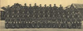 Group photograph of 2nd Bn WOs' and Sgts' Mess, Ashwell Camp, Oakham, Leics, 1945.
