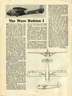 Article on WACO Hadrian reproduced from Air Training Corps, Sept 1944