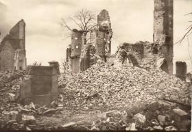 Photos showing war damage in North West Europe(?), c.1945-6