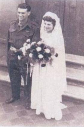 Photo of Pip Tyler's wedding, September 1947