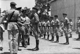 Wings presentation to Paras of 16th Para Bde at Ismailia, Egypt, July 1953