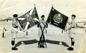 The recently issued Colours of 3rd Battalion, Moascar, Egypt, c1952-3.