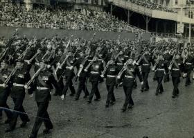 Coronation Party from the Parachute Regiment parade on HM The Queen's Coronation, 2 June 1953