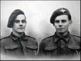 Photo of Tommy and Claude Gronert, of B Coy, 2nd Parachute Battalion - both were killed at Arnhem