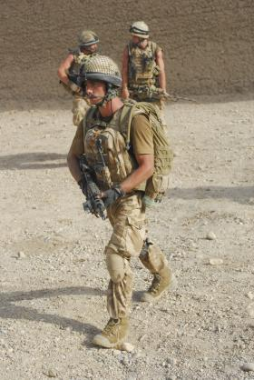 Jason Rawstron on patrol near FOB Gibraltar, Afghanistan, 2008