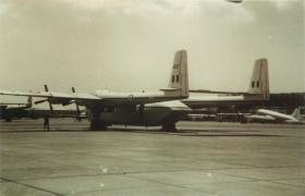 An Armstrong-Whitworth Argosy at RAF Khormaksar, Aden, c.1967