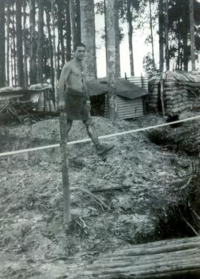 Sgt Allen 'Taff' Alderman covered in jungle sores, Borneo, 1965.