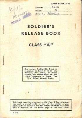 Release Book of CSM Alfred Cook GM