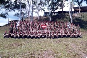 Group photo of A Coy, 2 PARA, Belize, 1983