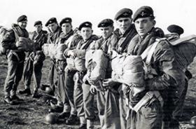 Members of 2 Platoon, A Company, 1 PARA, England, c1957.