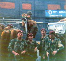 Members of A Coy, 4 PARA, date unknown.