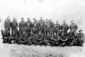 Group photo of the Anti-Tank Platoon, 2nd Parachute Battalion, Barletta, Italy, November 1943.