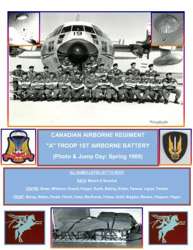 Group photograph A Troop 1st Airborne Battery Canadian Airborne Regiment 1969