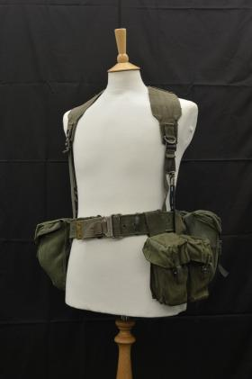 Tailored 58 Pattern Webbing as worn by Sgt Bob Hilton, 2 PARA, 2002 from the Airborne Assault Museum, Duxford.